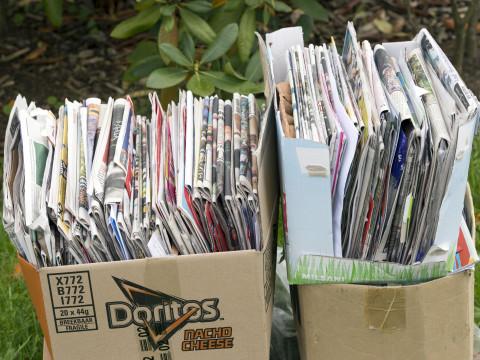 Inzameling oud papier binnenstad voortaan overdag