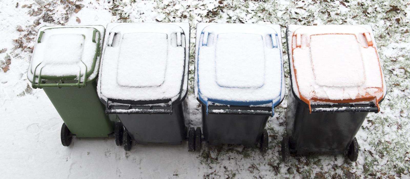 Inzameling bij zwaar winterweer