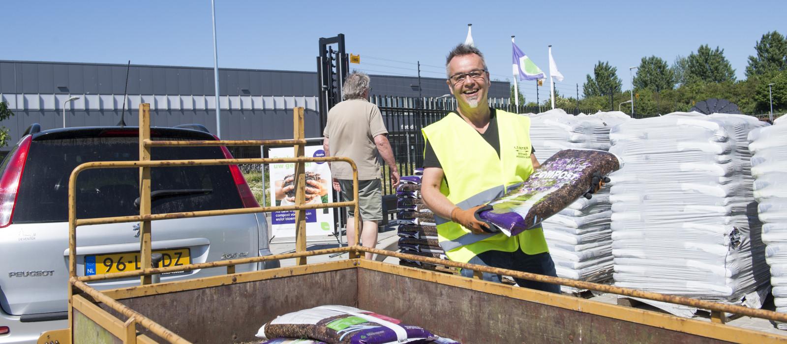 Compost voor bezoekers Recycleplein Deventer