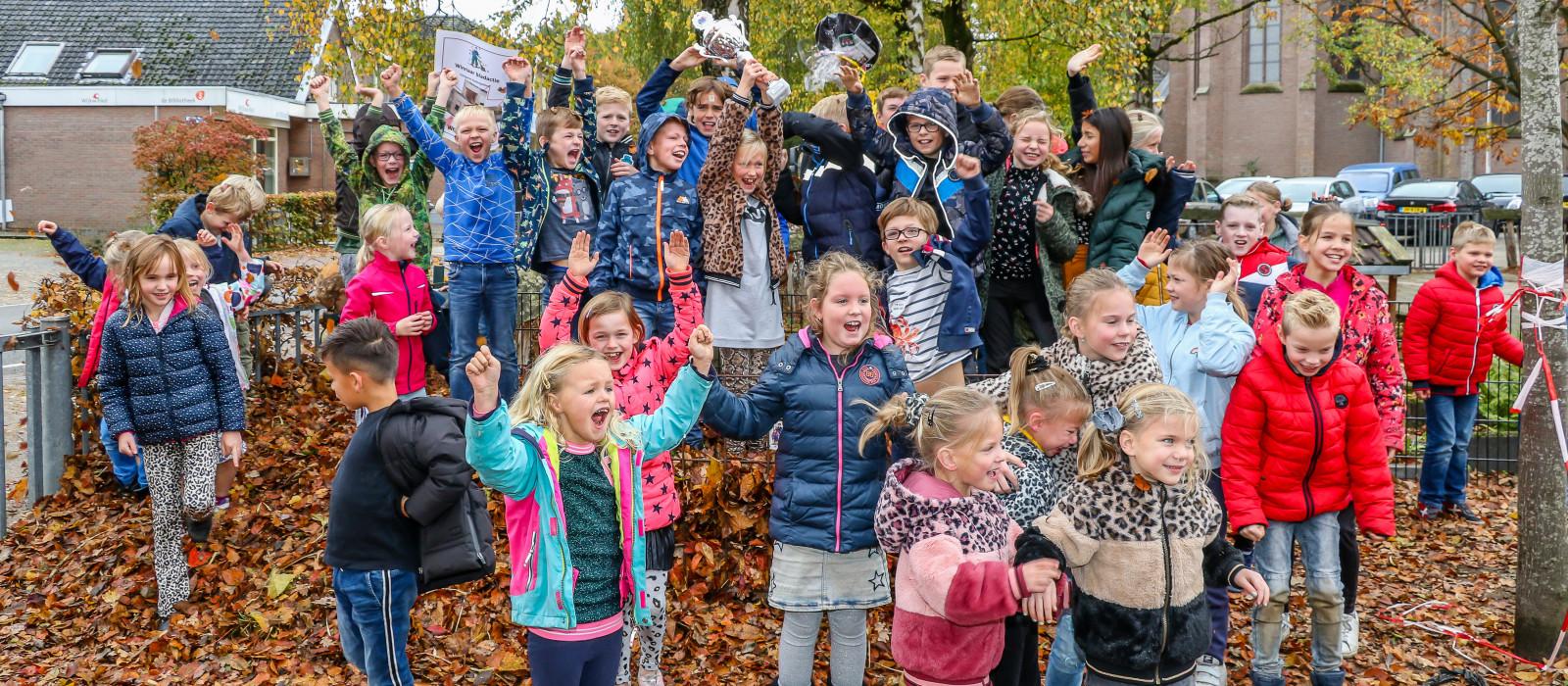 Sancta Maria en Hovenschool winnen Bladverzamelwedstrijd 2020