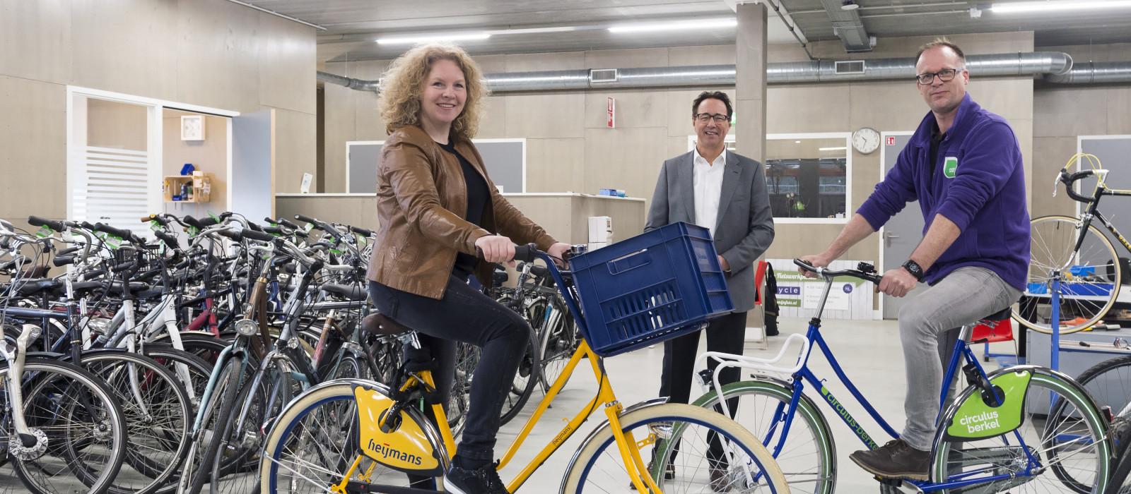 Duurzame gele fietsen veroveren Heijmans