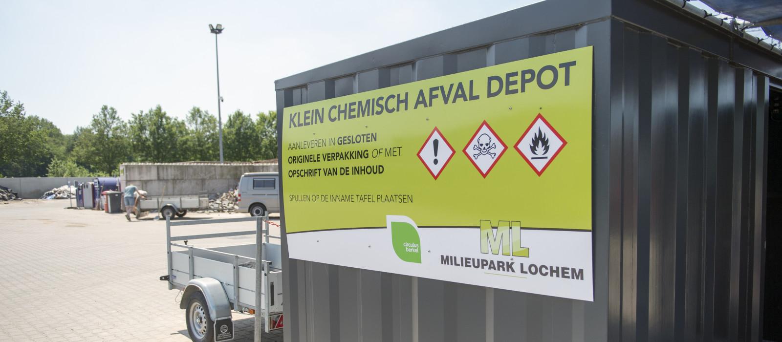 Innamepunt klein chemisch afval Lochem geopend