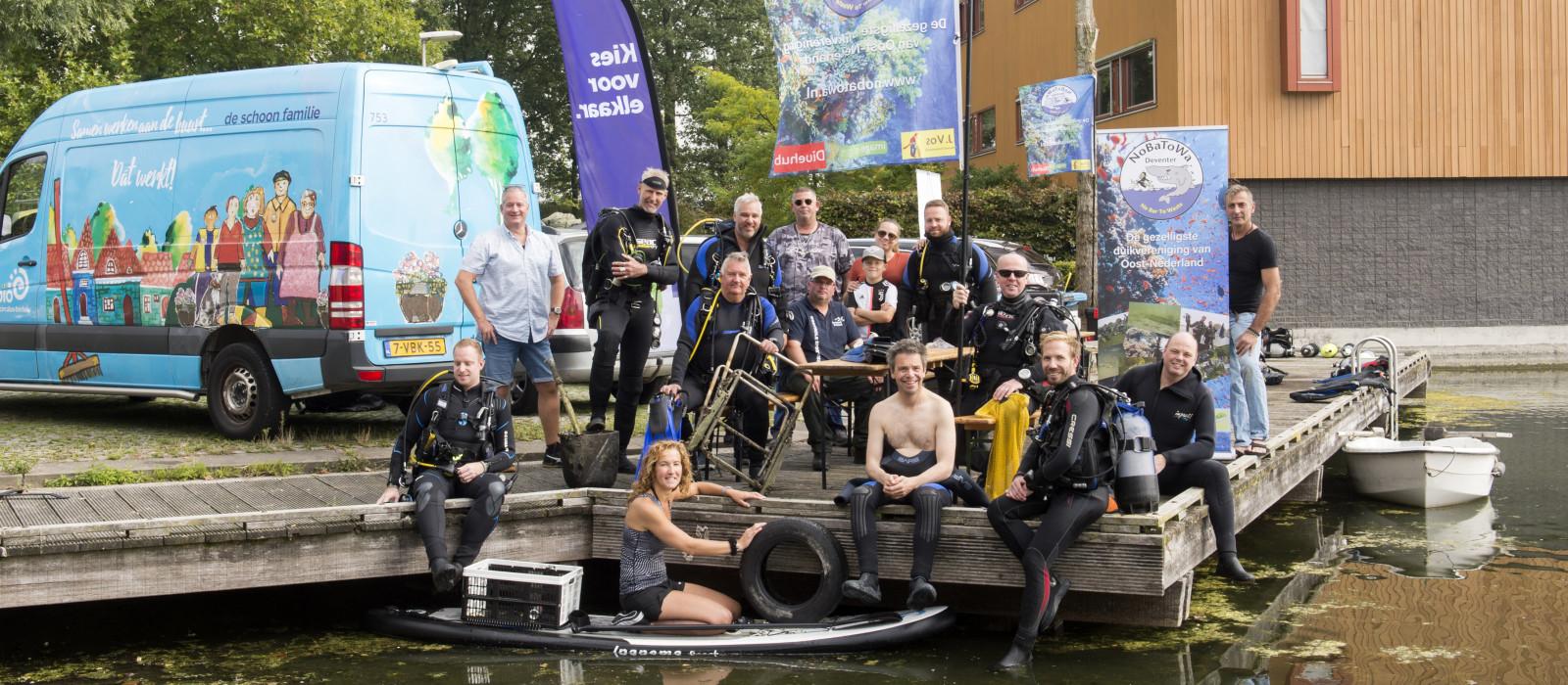 World Cleanup Day: duikers schonen Rielerkolk op