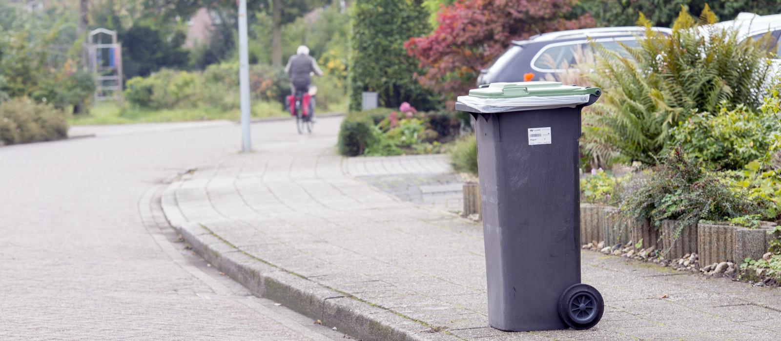 Groene container vanaf 1 december minder vaak aan de weg